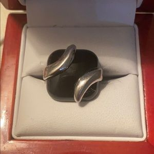 Sterling Silver black onyx's ring